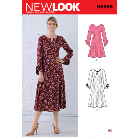 New Look Sewing Pattern N6635 - Misses' Princess Seamed Dresses