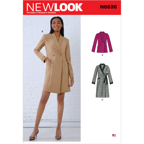 New Look Sewing Pattern N6636 - Misses' Dresses and Blazer