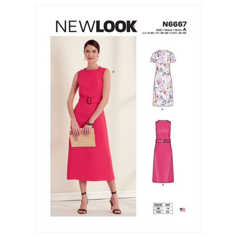 New Look Sewing Pattern N6667 - Misses' Dress