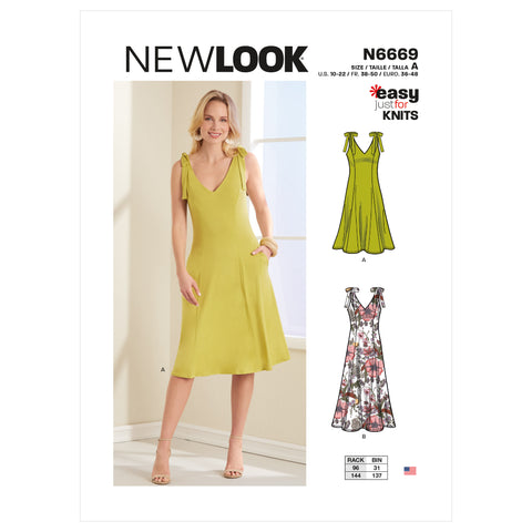 New Look Sewing Pattern N6669 - Misses' Knit Dress