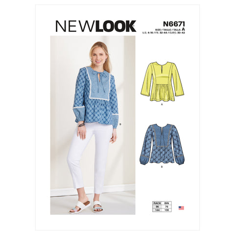 New Look Sewing Pattern N6671 - Misses' Top