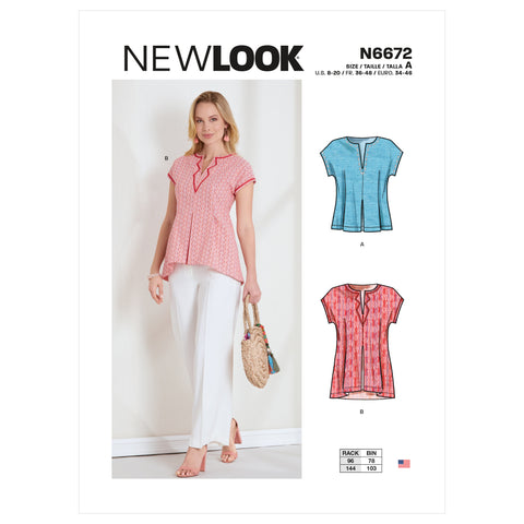 New Look Sewing Pattern N6672 - Misses' Top or Tunic