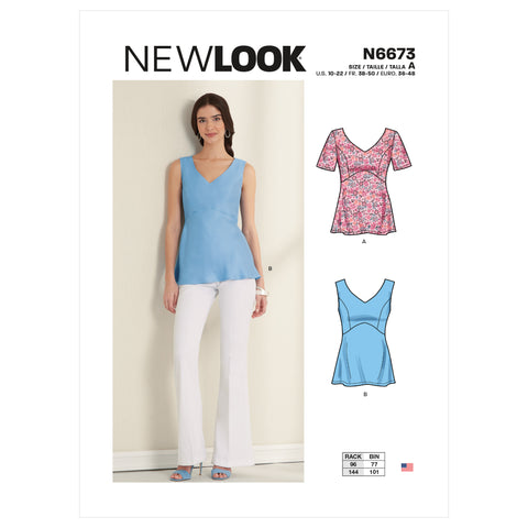 New Look Sewing Pattern N6673 - Misses' Tops