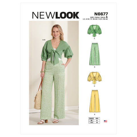New Look Sewing Pattern N6677 - Misses' Cropped Jacket & Trousers
