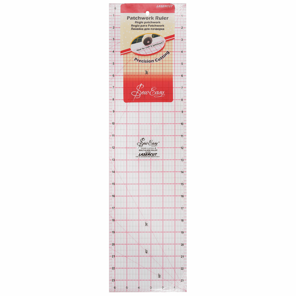 "Sew Easy Patchwork Quilting Ruler - 24"" x 6.5"""