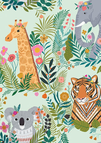 Dashwood Our Planet - Animals Blue - 100% Cotton Fabric