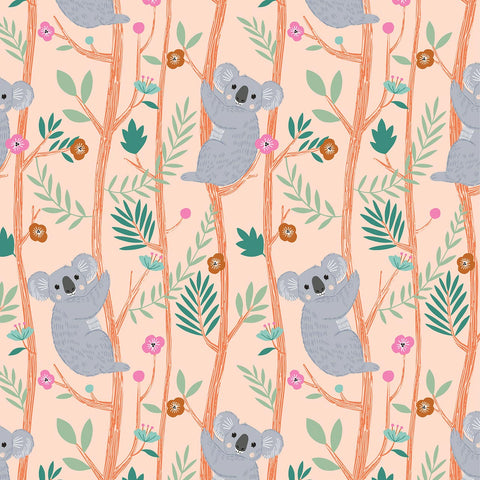 Dashwood Our Planet - Koala Pink - 100% Cotton Fabric