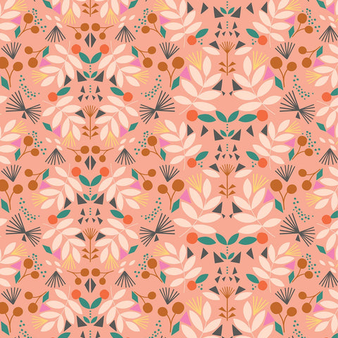 Dashwood Our Planet - Floral Pink - 100% Cotton Fabric