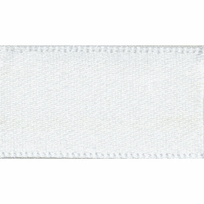 10mm NewLife Recycled Double Faced Satin Ribbon - White