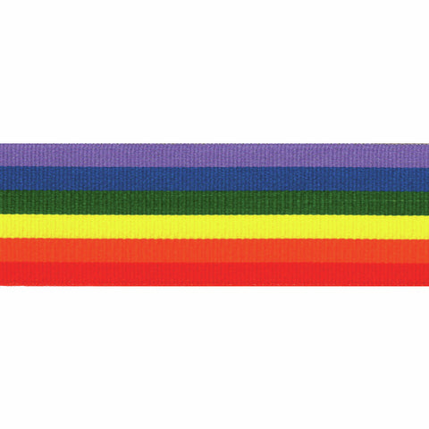 10mm Rainbow Stripe Grosgrain Ribbon