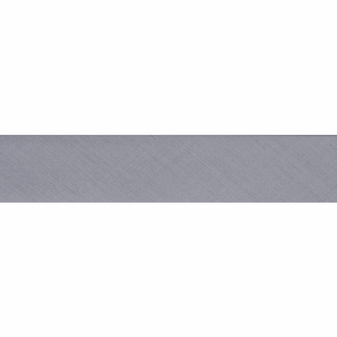 "12mm/1/2"" Polycotton Bias Binding - Grey"