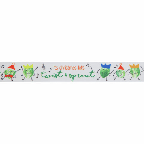 25mm Twist and Sprout Christmas Ribbon