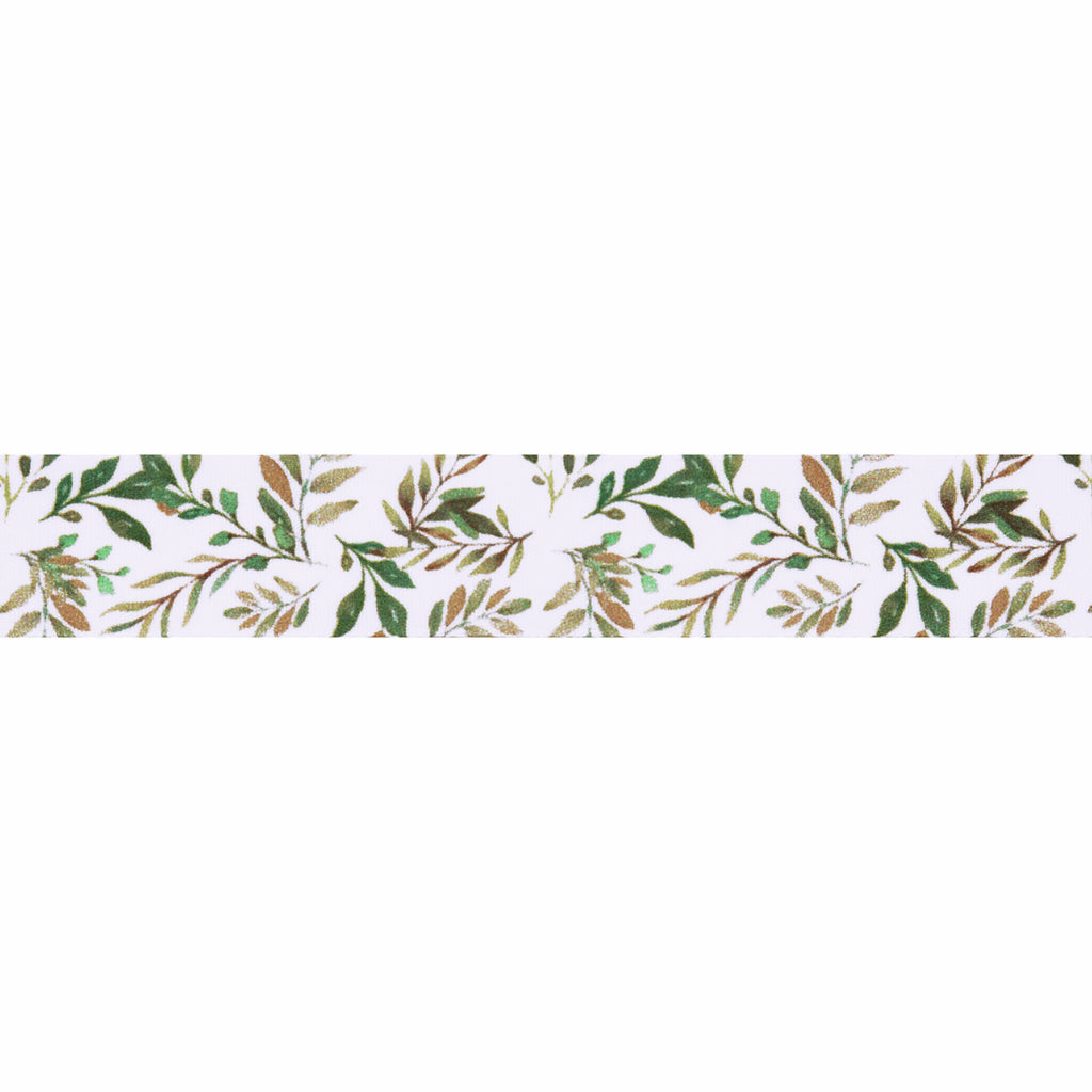 15mm Vine Printed Grosgrain Ribbon