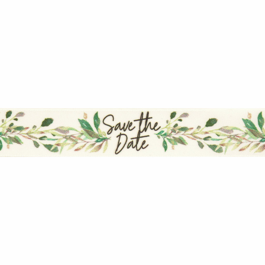25mm Save the Date Vine Ribbon
