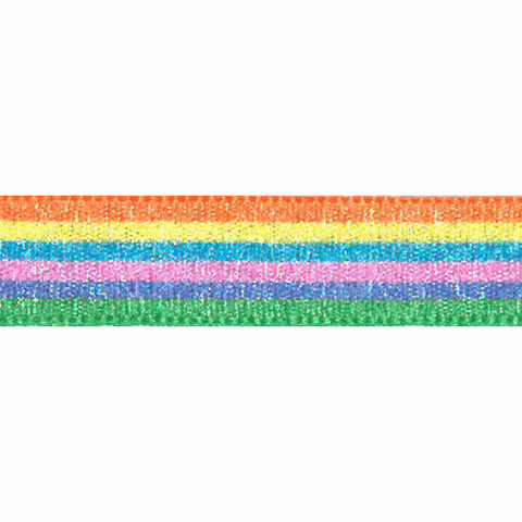 15mm Rainbow Shimmer Grosgrain Ribbon