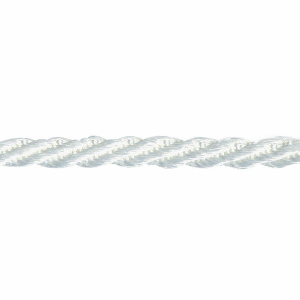 5mm Woven Twist Cord - White