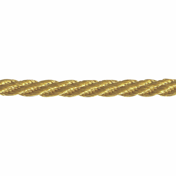 5mm Woven Twist Cord - Honey Gold