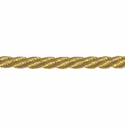 Woven Twist Cord 5mm - Honey Gold