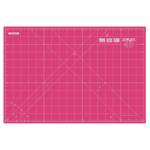 Olfa Coloured Cutting Mat Metric & Imperial 42.5 x 27.5cm - Pink