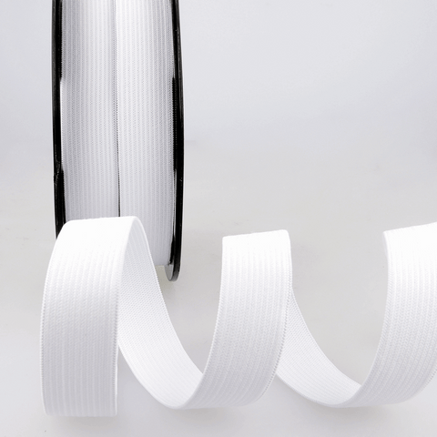 20mm White Ribbon Elastic
