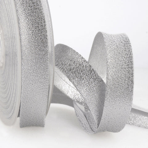 20mm Silver Metallic Bias Binding