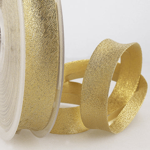 20mm Gold Metallic Bias Binding