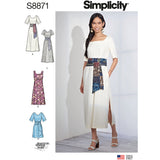 Simplicity Sewing Pattern S8871 - Misses'/Petite Wrap Tie Dress
