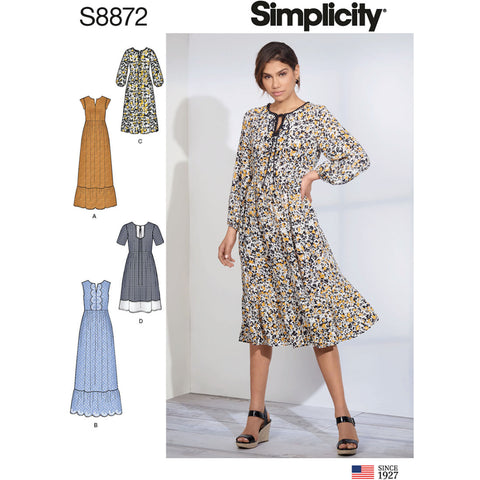 Simplicity Pattern S8872 - Misses' Pullover Dress