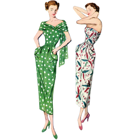 Simplicity Pattern S8876 - Misses'/Women's Vintage Dress and Stole