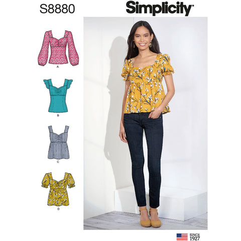 Simplicity Pattern S8880 - Misses' Tops