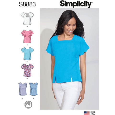 Simplicity Sewing Pattern S8883 - Misses' Tops