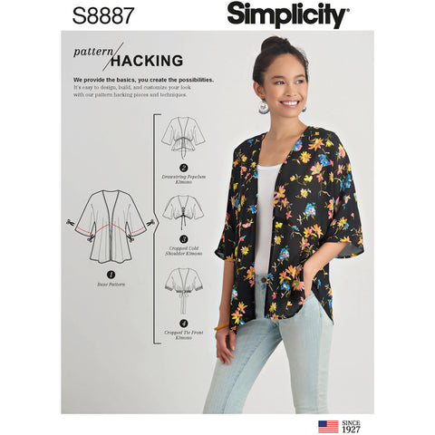Simplicity Sewing Pattern S8887 - Misses' Design Hacking Kimono