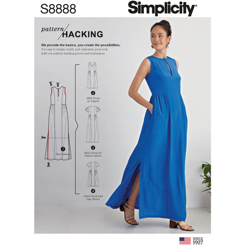 Simplicity Pattern S8888 - Misses' Design Hacking Dress