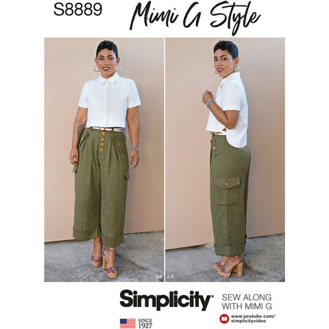 Simplicity Pattern S8889 - Misses' Shirt and Wide Leg Pants