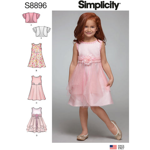 Simplicity Pattern S8896 - Children's Dress