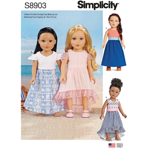 "Simplicity Pattern S8903 - 18"" Doll Clothes"