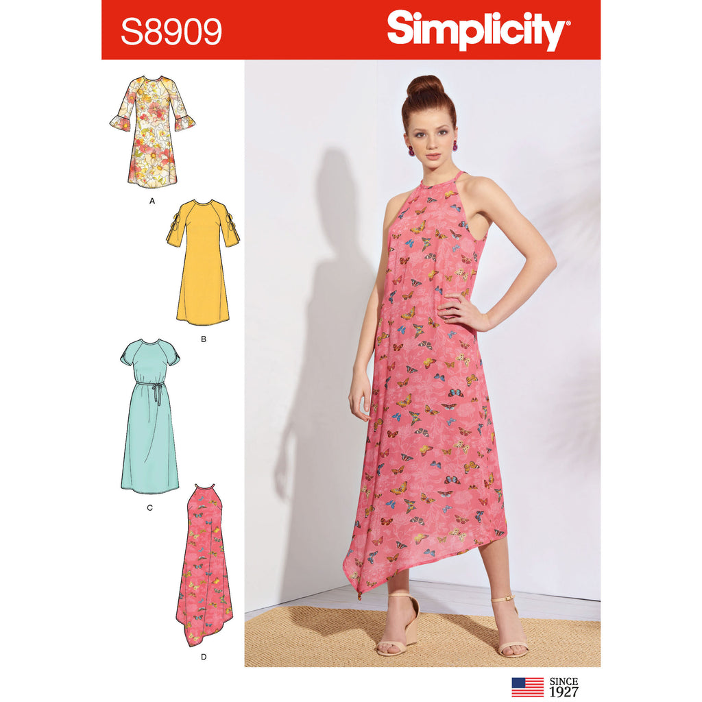 Simplicity Sewing Pattern S8909 - Misses' Dresses