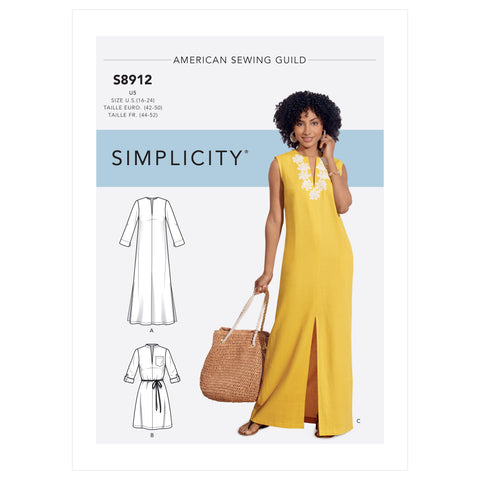 Simplicity Sewing Pattern S8912 - Misses' Dress