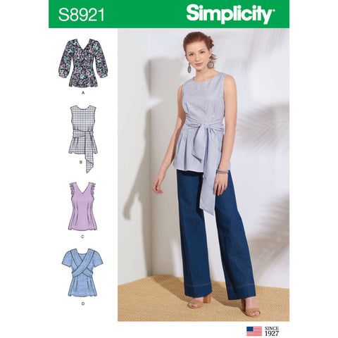 Simplicity Pattern S8921 - Misses' Tops