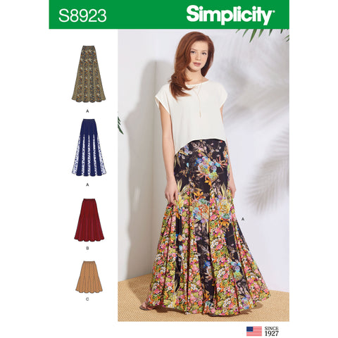 Simplicity Pattern S8923 - Misses' Pull-On Skirts