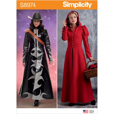 Simplicity Sewing Pattern S8974 - Misses' Cosplay Coat Costume