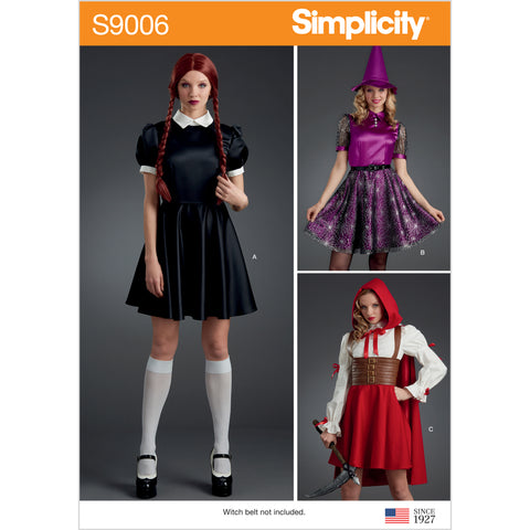 Simplicity Sewing Pattern S9006 - Misses' Halloween Costumes