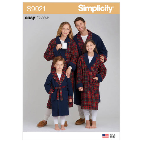 Simplicity Sewing Pattern S9021 - Children's, Teens' & Adults' Robe