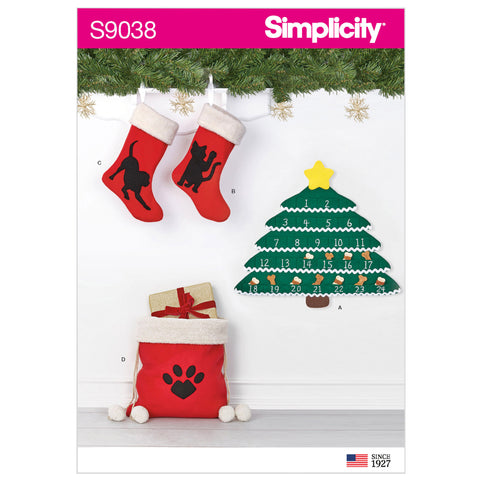 Simplicity Sewing Pattern S9038 - Holiday Countdown Calendar & Accessories