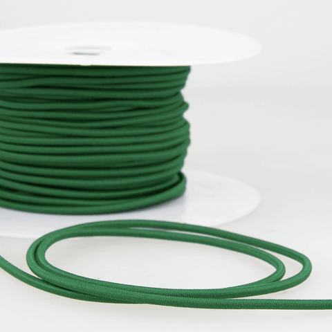 3mm Coloured Elastic Cord - Bottle Green