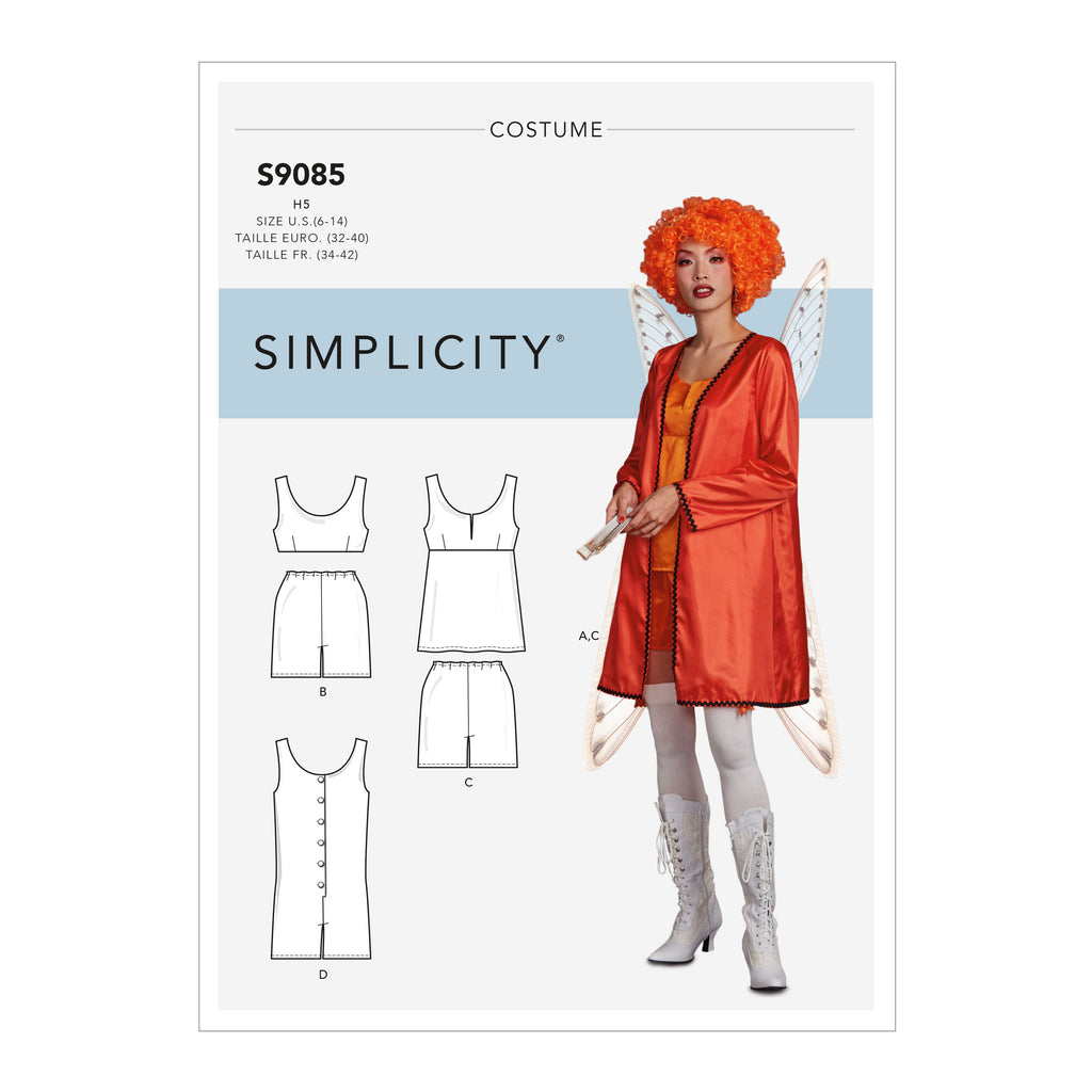 Simplicity Sewing Pattern S9085 - Misses' Historical Costume Robe, Tops, Bottoms & Rompers