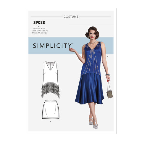 Simplicity Sewing Pattern S9088 - Misses' Flapper Costumes
