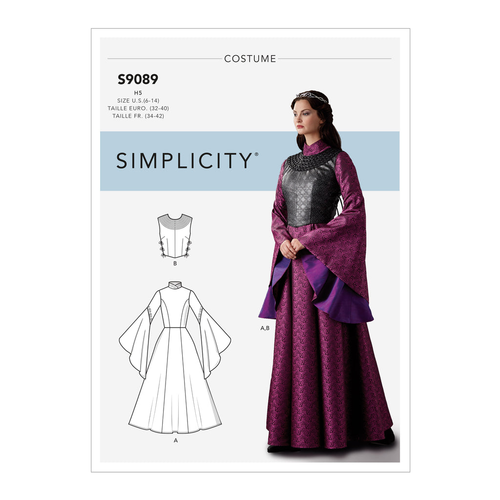 Simplicity Sewing Pattern S9089 - Misses' Fantasy Costume
