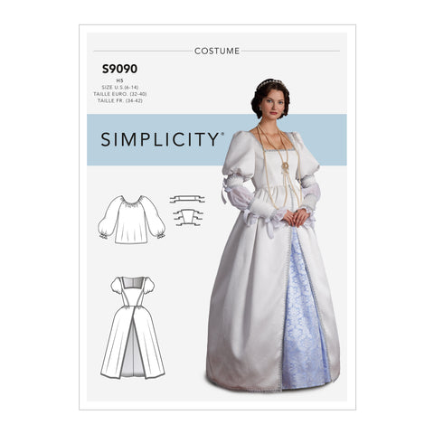 Simplicity Sewing Pattern S9090 - Misses' Historical Costume