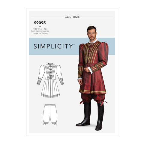 Simplicity Sewing Pattern S9095 - Men's Historical Costume